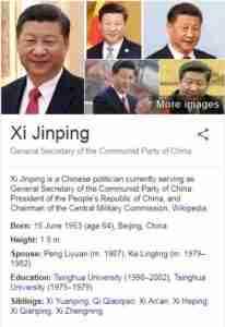 Xi Jinping Net Worth (2018 – 2019)