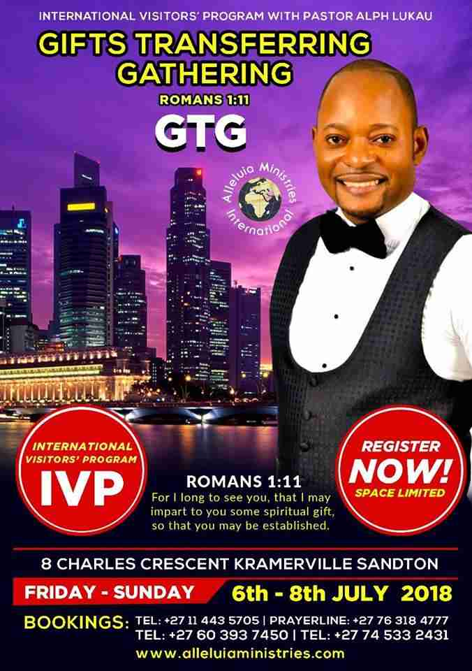 "Register & Login : Pastor Alph Lukau :- ""International Visitors Program"""