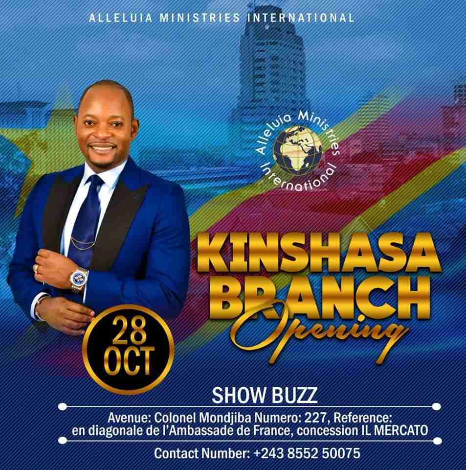 Alleluia Ministries Kinshasa , Congo - Contact Details , Address , Pastor Alph Lukau
