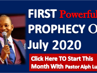 Prayer For July 2020