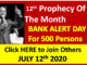 Bank Prophecy Sunday