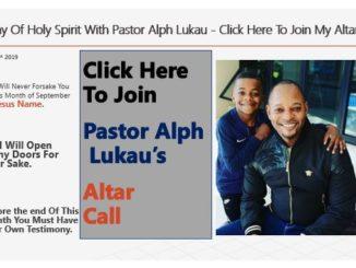 Alph Lukau Altar Call